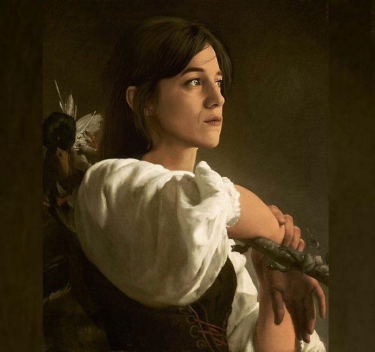 Шарлотта Генсбур_портреты знаменитости в классическом стиле